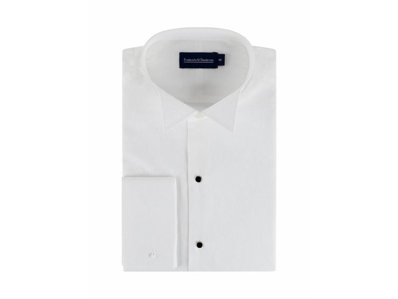 F&H  Smoking shirt wing collar met studs