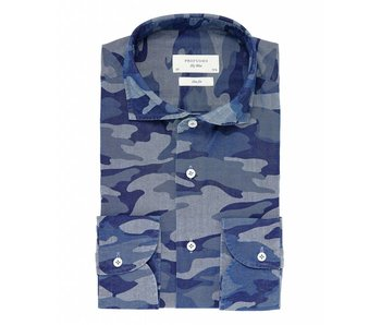Profuomo Sky Blue Indigo camouflage