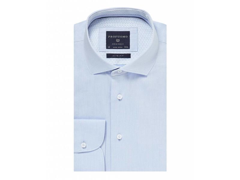Profuomo Lichtblauw fijn twill shirt