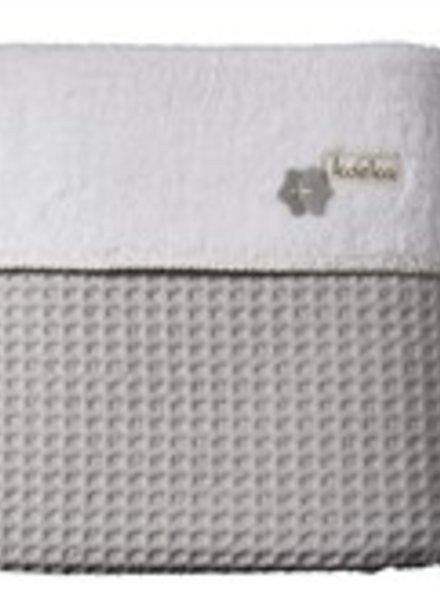 Koeka Koeka wiegdeken silver grey/ white