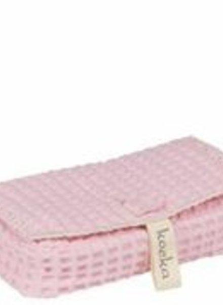 Koeka koeka hoes voor babydoekjes Antwerp roze