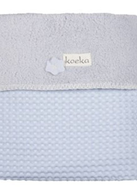 Koeka Koeka ledikantdeken babyblauw / silvergrey