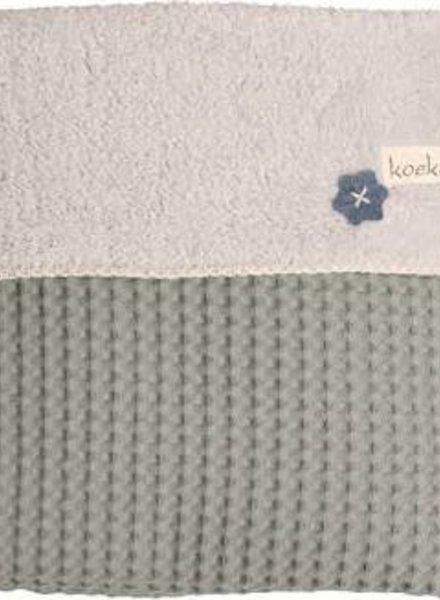 Koeka Koeka wiegdeken sapphire/soft grey