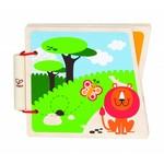 Hape Houten babyboek dierentuin