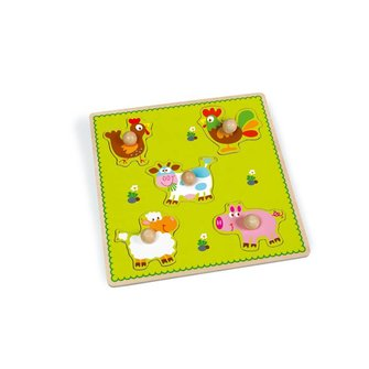 Scratch Europe Knop puzzel boerderij