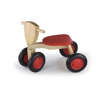 New Classic Toys Loopfiets 4 wielen rood