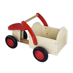 New Classic Toys Houten Bakfiets Blank / Rood