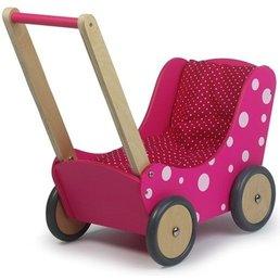 Simply for Kids Poppenwagen roze met stip