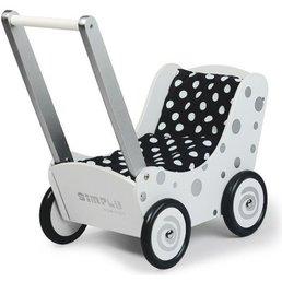 Simply for Kids Poppenwagen zilver met stip