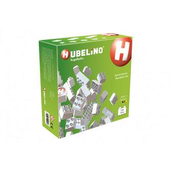 Hubelino Hubelino 105-delige set met witte bouwstenen