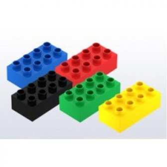 Hubelino Hubelino Bouwstenen kleur mix, 8 noppen, 50 stuks