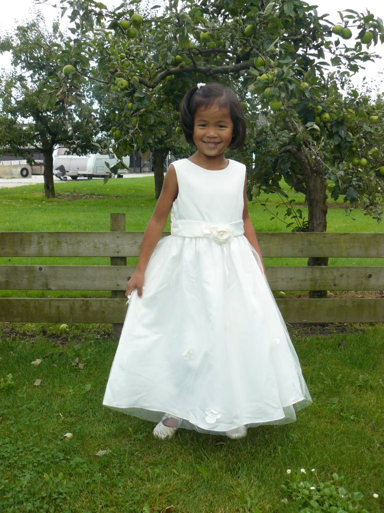 Bruidsmeisjes jurk - Feestjurk Amalia ivoor