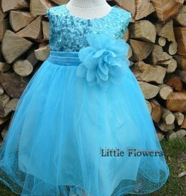 Feestjurk - Bruidsmeisjes jurk Daphne aqua bleu