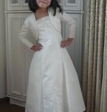 Bruidsmeisjes jurk Caitlyn ivoor met champagne