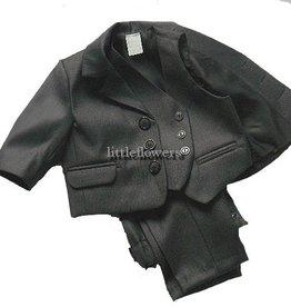 Kinder kostuum donkergrijs - antraciet driedelig