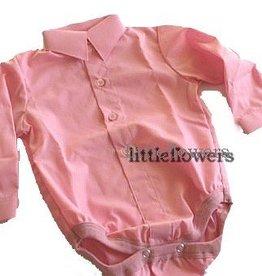 Baby overhemd model romper roze
