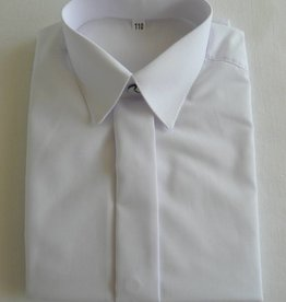 Jongens overhemd wit effen