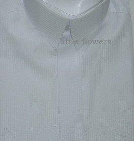Jongens overhemd wit met fijn ingeweven streepje