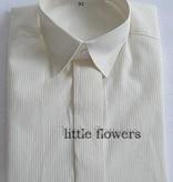 Jongens overhemd ivoor met fijn ingeweven streepje
