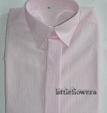 Jongens overhemd rose met  ingeweven streepje