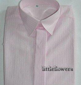 Jongens overhemd rose met fijn ingeweven streepje