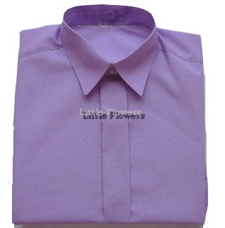 Jongens overhemd midden paars