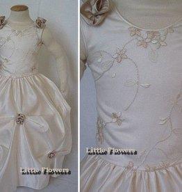 Bruidsmeisjes jurk Charlotte ivoor - champagne