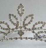 Kroontje van strass op haarkam model 3
