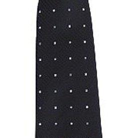 Stropdas zwart met zilver blokje kleur 7