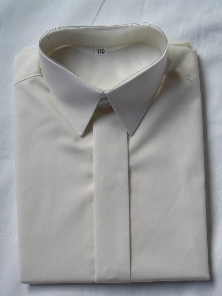 Overhemd ivoor met korte mouw