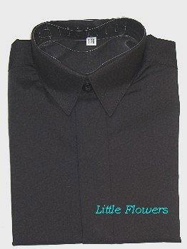 overhemd zwart met korte mouw