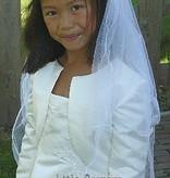 tiara met sluier wit