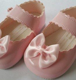 Baby schoentje roze met satijn strik