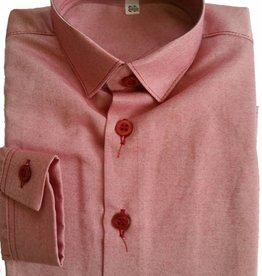 Overhemd rood slim fit