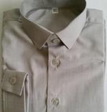Overhemd slim fit licht grijs gemeleerd