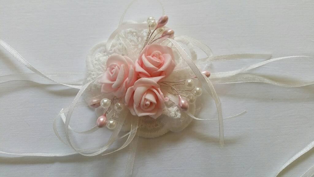 105 Polscorsage roosjes roze