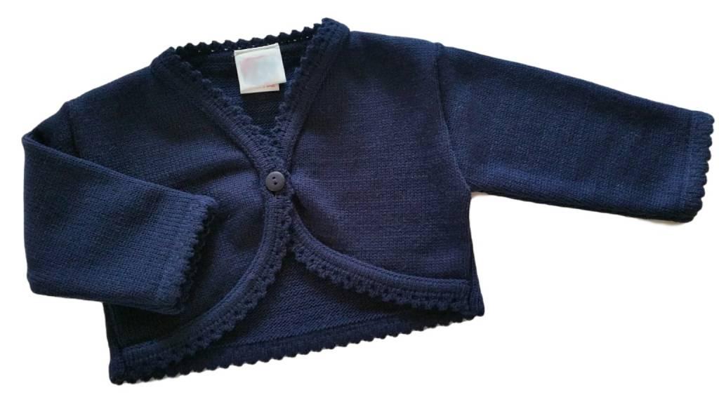 Baby vestje donkerblauw