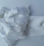 Luierbroekje wit met strikjes