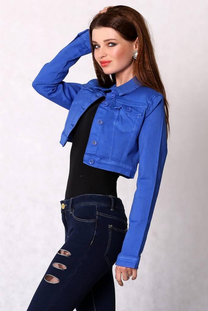 Blue Short Jacket WuZQbI