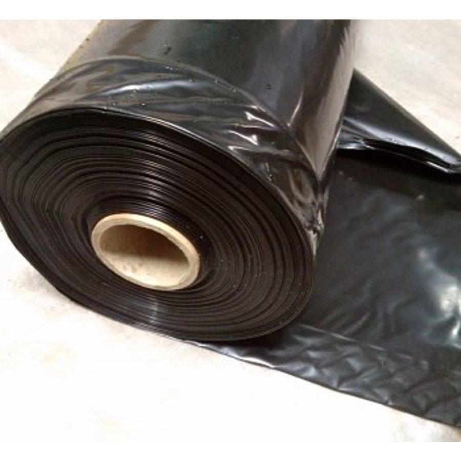 pe folie zwart 100 x 2 meter kopen dakbenodigdheden. Black Bedroom Furniture Sets. Home Design Ideas