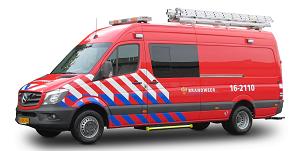 Waterongevallenvoertuig brandweer