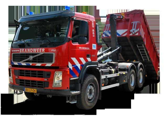 Haakarmvoertuig brandweer