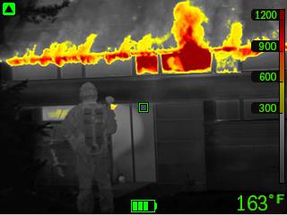 Warmtebeeldcamera brandweer