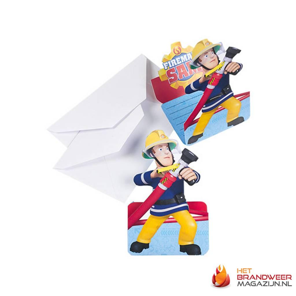 uitnodigingen brandweerman sam het brandweer magazijn. Black Bedroom Furniture Sets. Home Design Ideas
