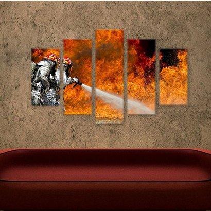 Canvas vloeistofbrand 5-delig