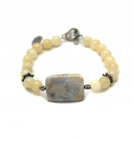 Bracelet ocean jasper calcite