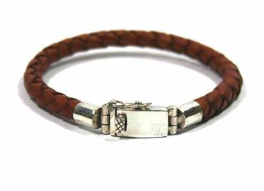 Armbanden leder & zilver