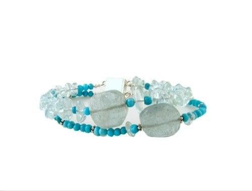 Turquoise and aquamarine, 'Floating turquoise'