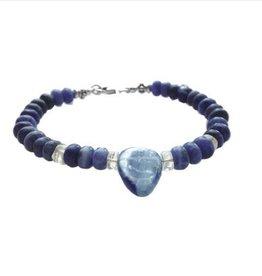 Bracelet sodalite and kyanite