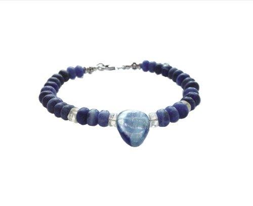 Sodalite and kyanite, Blue drop